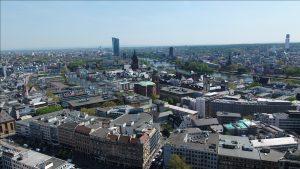 Luftaufnahme Frankfurt Deutsche Bank